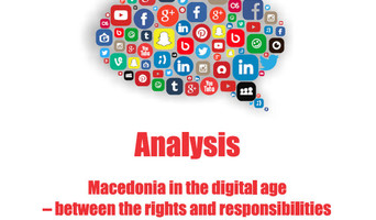 "Analysis ""Macedonia in the digital age – between the rights and responsibilities while communicating on Internet"""